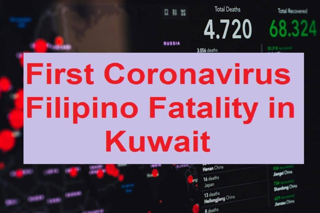 First Coronavirus Filipino Fatality